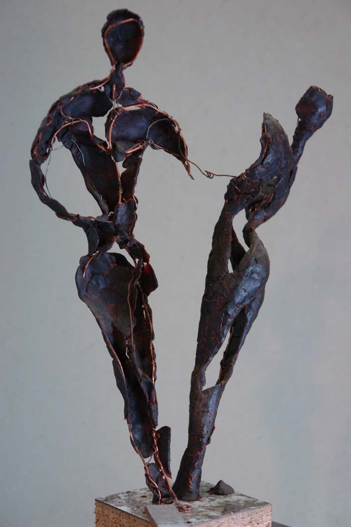 """Windtanz"", Wachsmodell, 2007"
