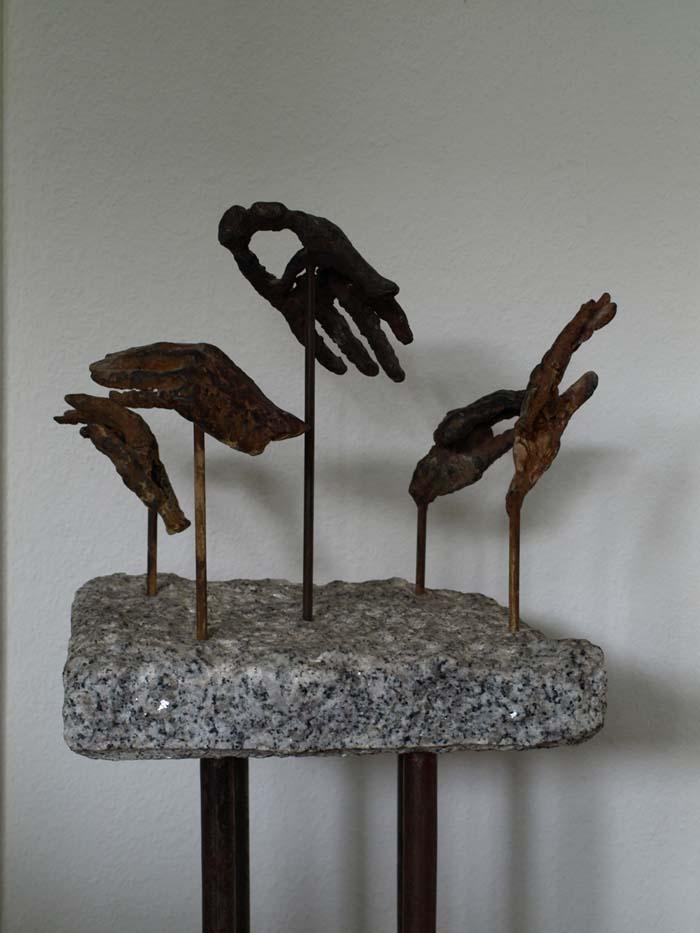 """Hände-Paradigma"", Bronze, 1996"