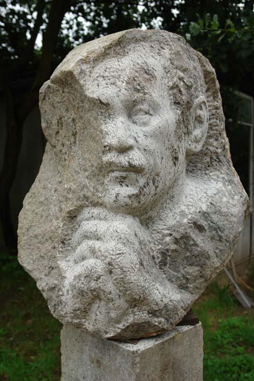 """""""Grabmal Fritz Kalf"""", Granit, 2007, Standort: Proseken"""