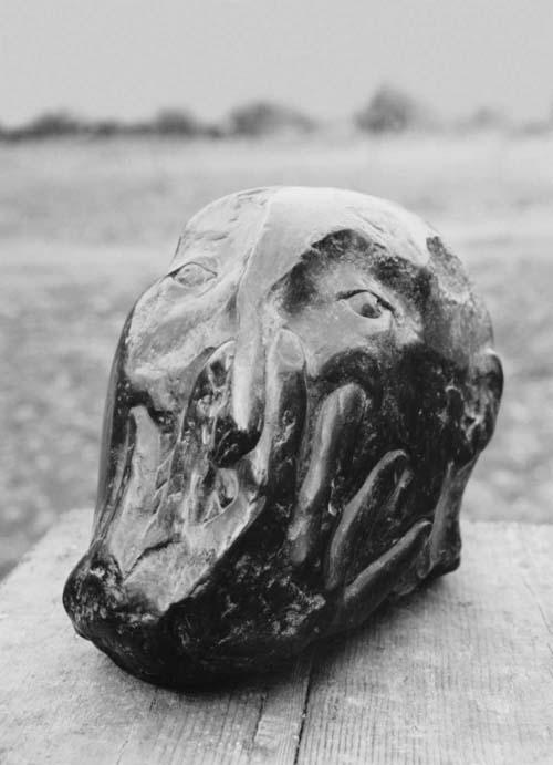 """Sechsfingerkopf"", Bronze, 1988"